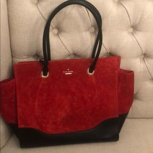 Kate Spade Red Suede Tote